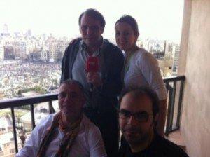 De izquierda a derecha y de arriba abajo, Rafael Bermejo, Laura Madrid, Juan Ramón Lucas y Sergio Jiménez. (Foto de RTVE.es)