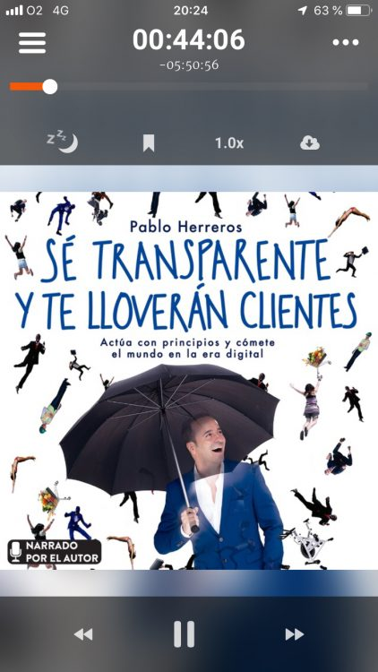 Puedes descargar gratis el audiolibro de Pablo Herreros leído por él mismo en la app Storytel (con prólogo de Mago More y epílogo de Juan Ramón Lucas, que también le ponen su voz al audiolibro)