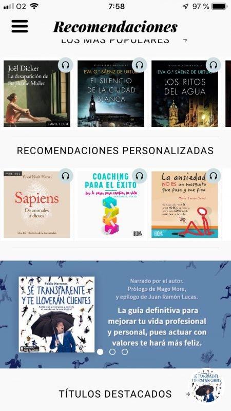 El libro Sé transparente y te lloverán clientes, de Pablo Herreros, entre los más recomendados en la app Storytell