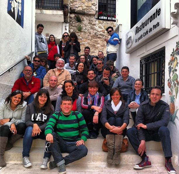 Parte de los viajeros de #RenuevaCalpe (foto: @Digitalmeteo)