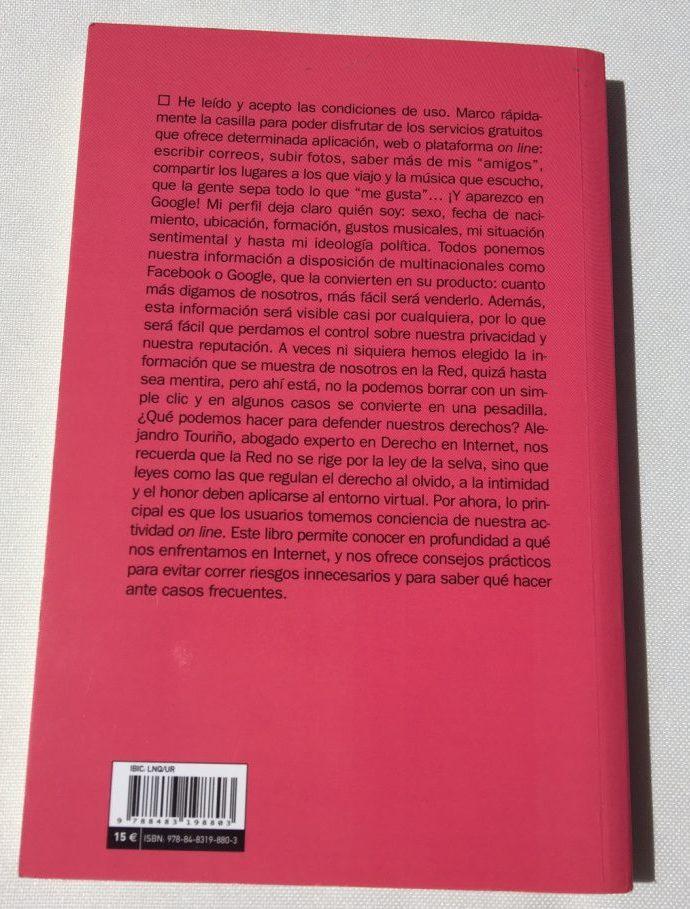 Libro El derecho al olvido y a la intimidad en Internet, de Alejandro Touriño