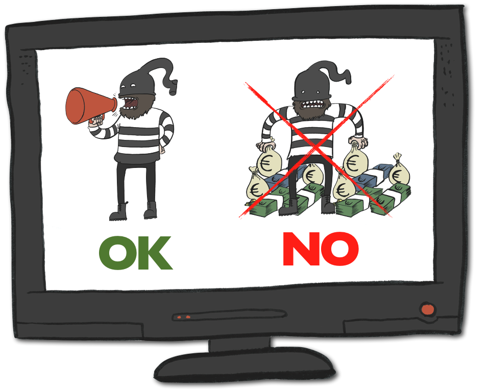 No más crimen pagado en TV. Por Marcos García: http://www.ornitorrincoman.blogspot.com